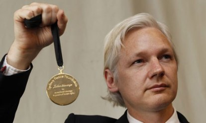Julian Assange Award, foto de Stefan Wermuth, Reuters. 2011.